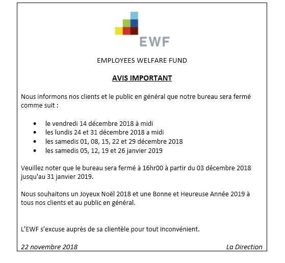 Employees Welfare Fund